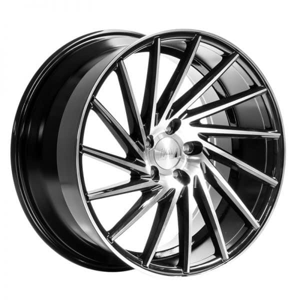 CJL Leisure 1AV ZX1 Black Polished 19 Inch Alloy Wheel