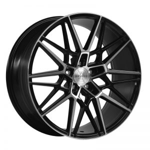 CJL Leisure axe cf1 black polished 20 inch alloy wheel