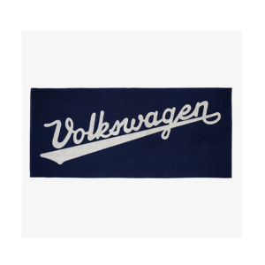 cjl-leisure-vehicles-VW Bath Towel With Historic Logo, Navy Blue
