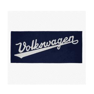 cjl-leisure-vehicles-VW Bath Towel With Historic Logo, Navy Blue