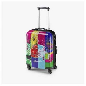 VW Beetle Pop art suitcase cabin bag